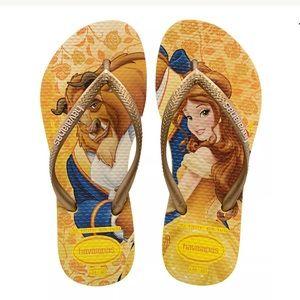 wide varieties promo code huge sale Havaianas Shoes | Disney Princess Beauty Beast Sandals New | Poshmark